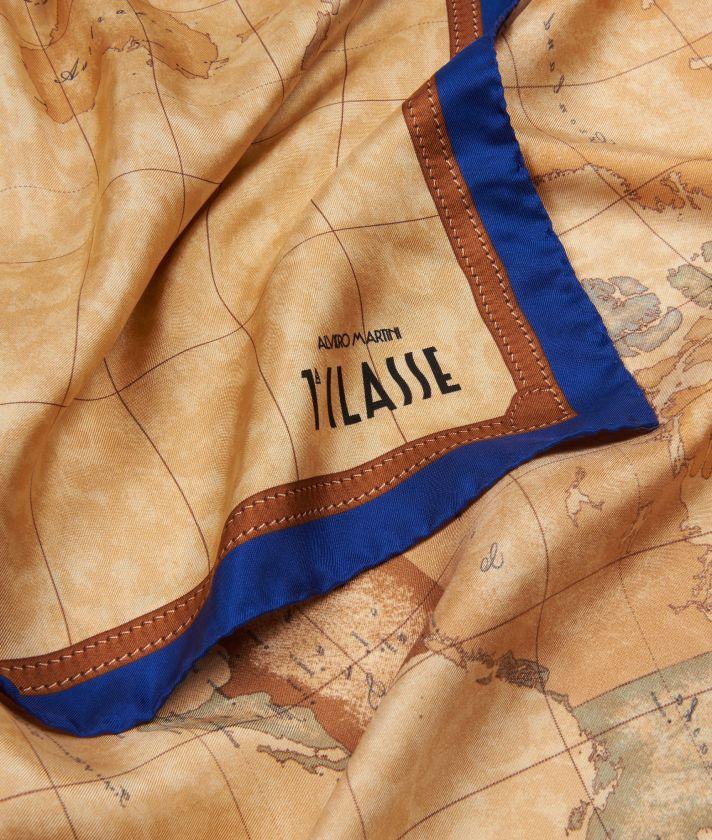 Geo Classic print foulard 90 x 90 Blue