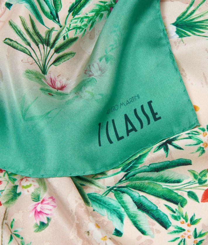 Oasis print foulard 70 x 70 Pink