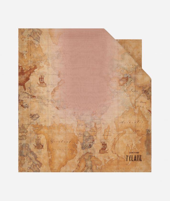 Geo Sfumato print scarf 45 x 180 Pink