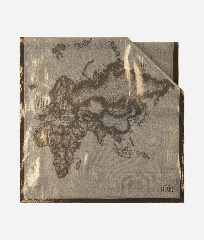 Geo Laminato print stole 65 x 190 Beige