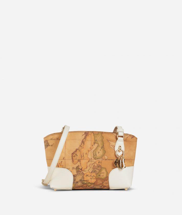Geo Doré Crossbody Bag White