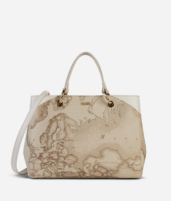 Geo Sahara Handbag White