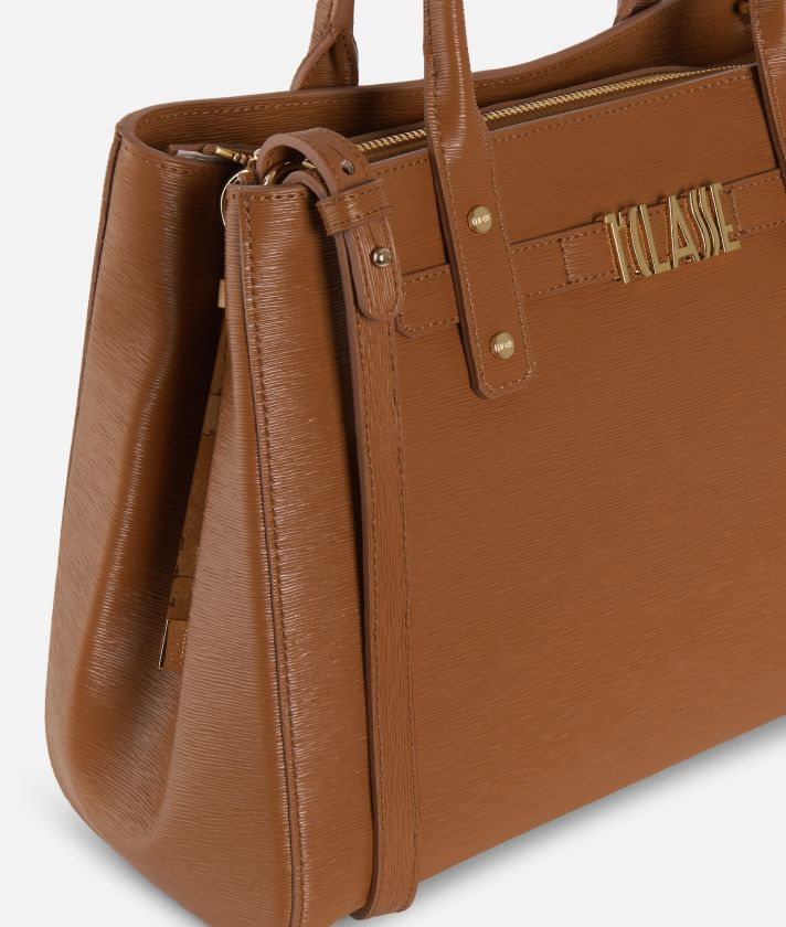 Voyage Smile Medium Handbag Brown
