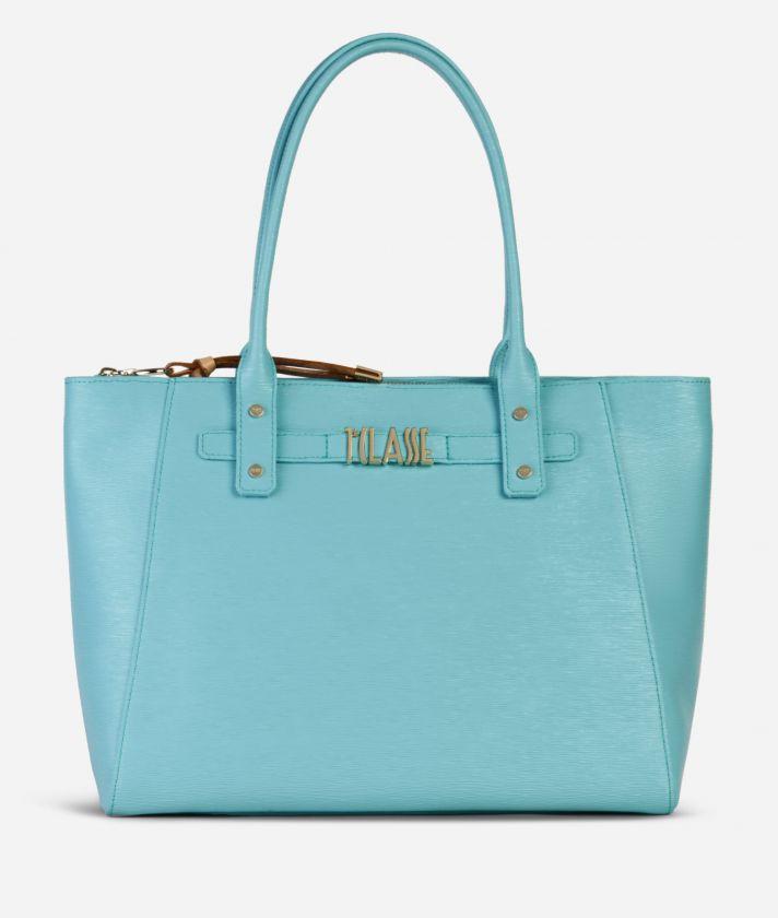 Voyage Smile Shopping Bag Light Blue