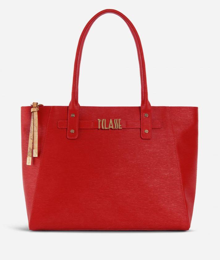 Voyage Smile Shopping Bag Red