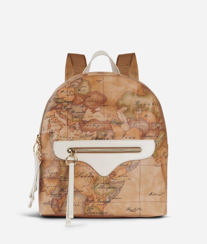 Soft Arabesque Backpack White