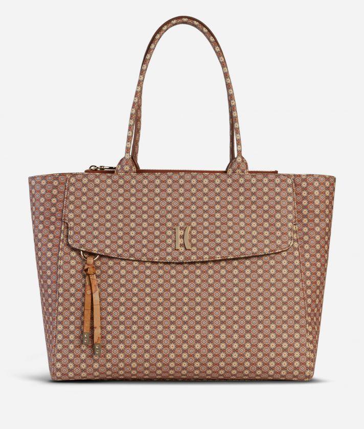 Mosaic Big Shopping Bag Brown