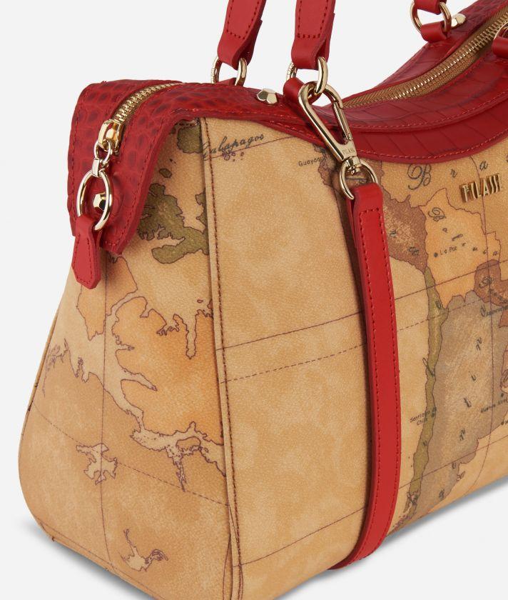 Charme Geo Handbag Red