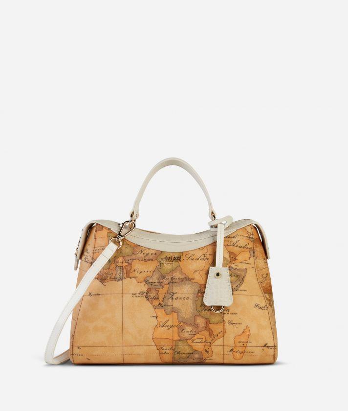 Charme Geo Handbag White