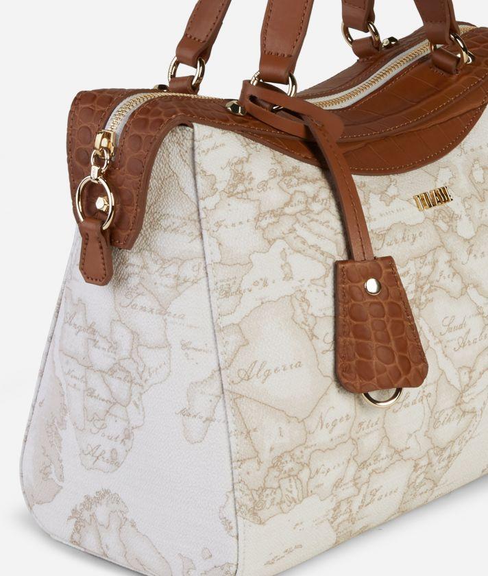 Charme Geo White Handbag White