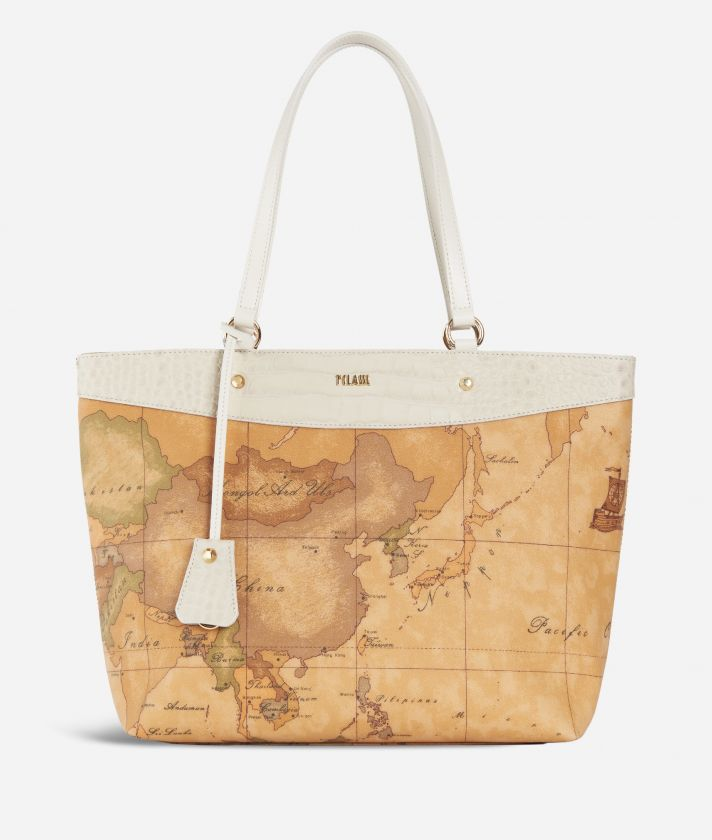 Charme Geo Shopping Bag White
