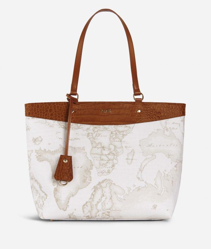 Charme Geo White Shopping Bag White