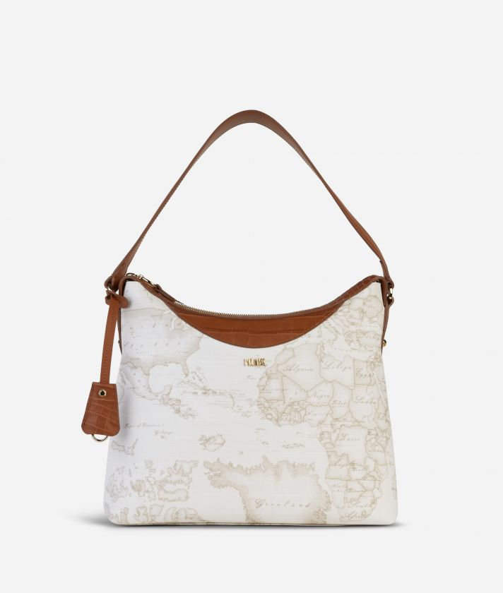 Charme Geo White Shoulder Bag White