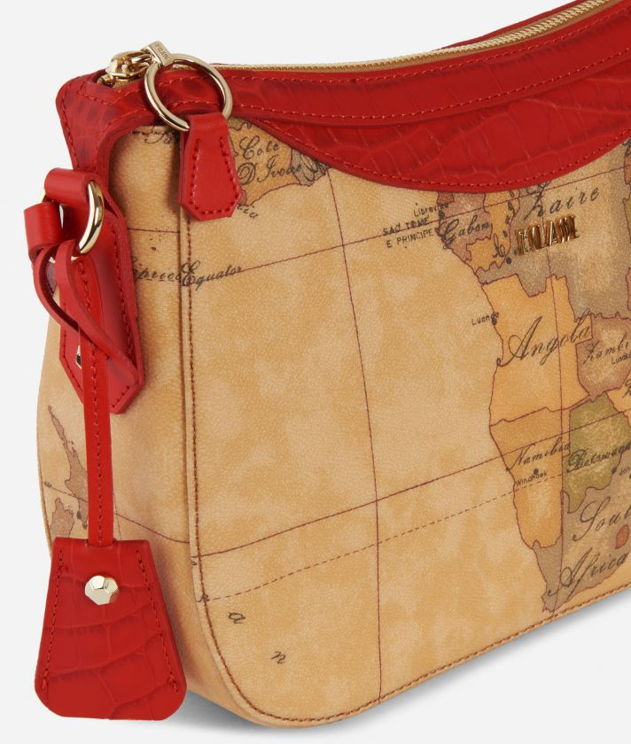 Charme Geo Crossbody Bag Red