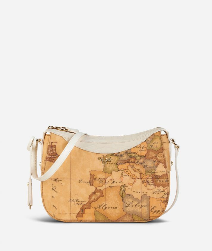 Charme Geo Crossbody Bag White