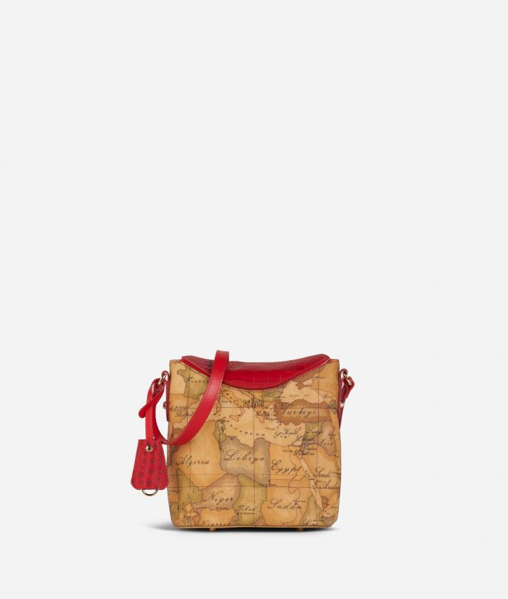 Charme Geo Bucket Bag Red