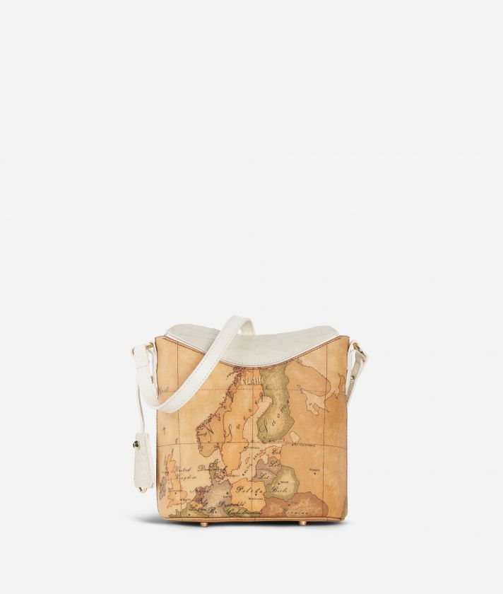 Charme Geo Bucket Bag White
