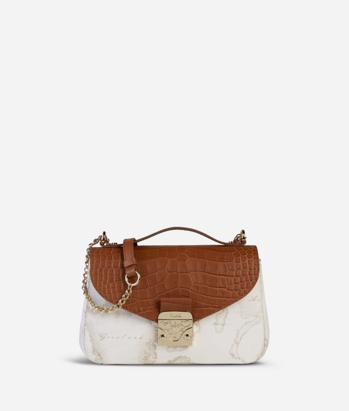 Jolie Bag Geo White Crossbody Bag Brown
