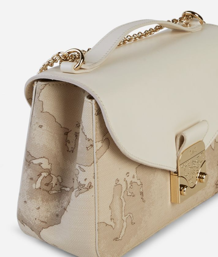 Jolie Bag Tracolla Bianca e Geo Safari