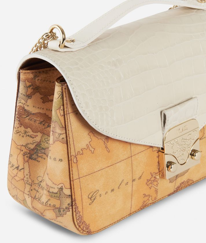 Jolie Bag Geo Classic Crossbody Bag White
