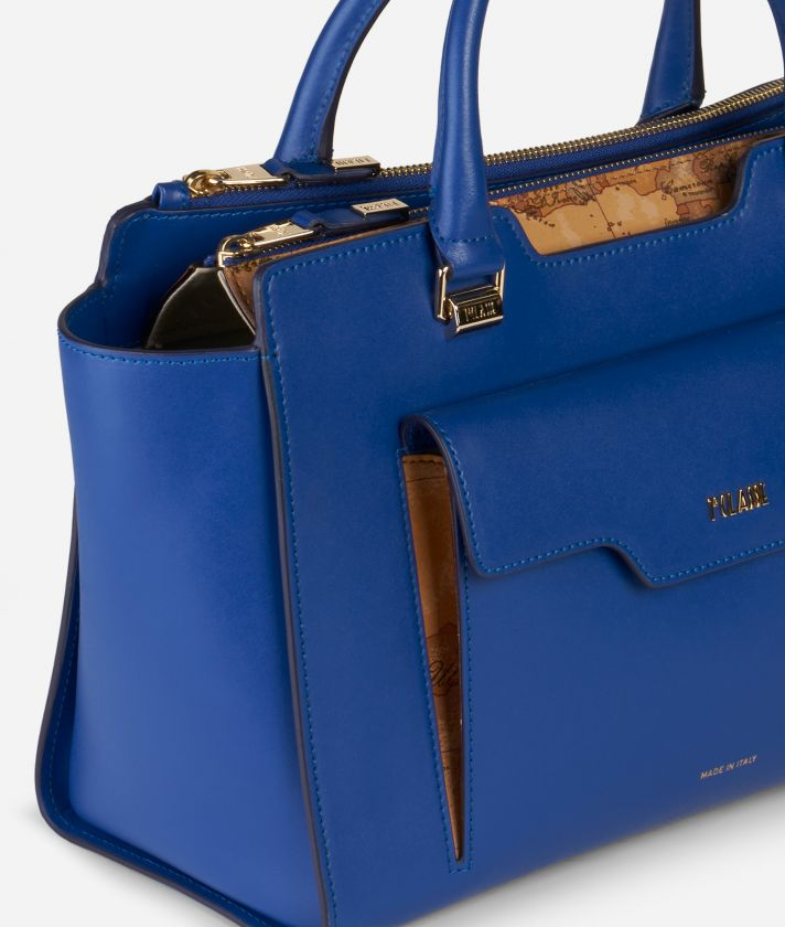 Marrakech Handbag in smooth leather Blue