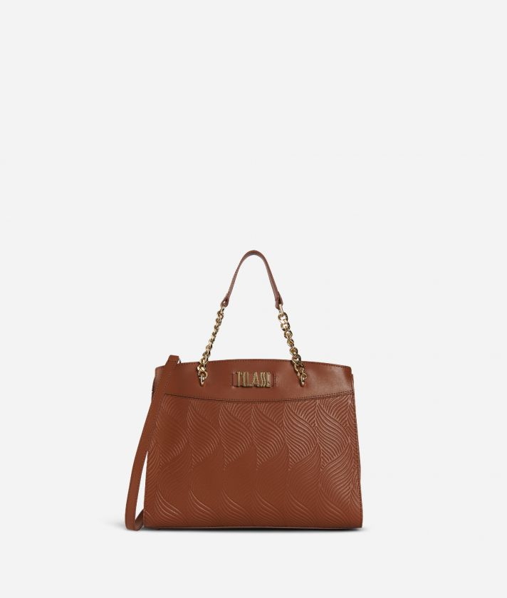 Majorelle Handbag in cowhide leather Brown