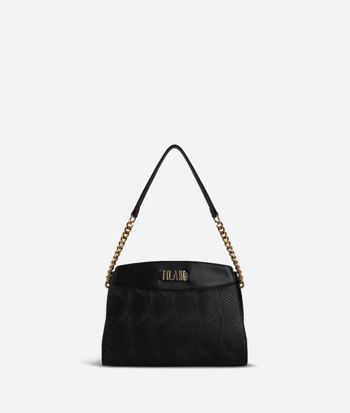 Majorelle Shoulder in cowhide leather Bag Black