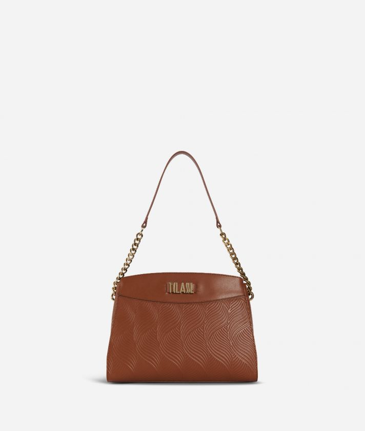 Majorelle Shoulder in cowhide leather Bag Brown