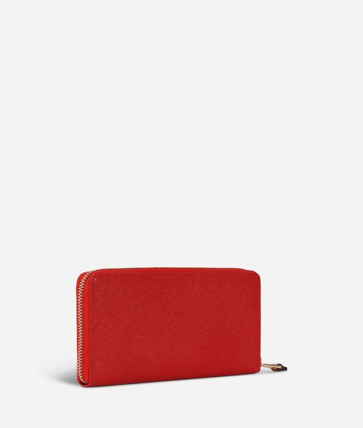 Medina City Zip-around Wallet Red