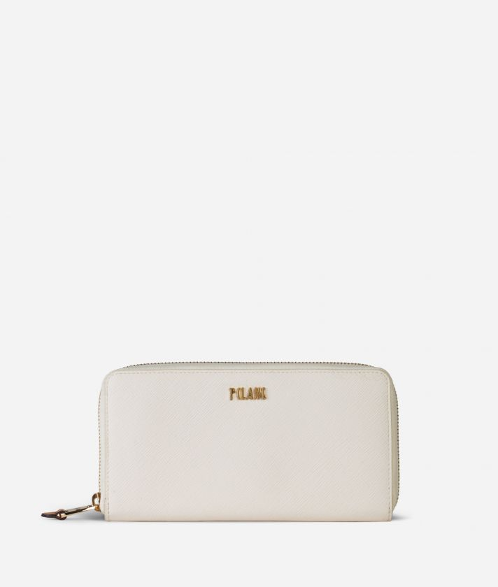 Medina City Zip-around Wallet White