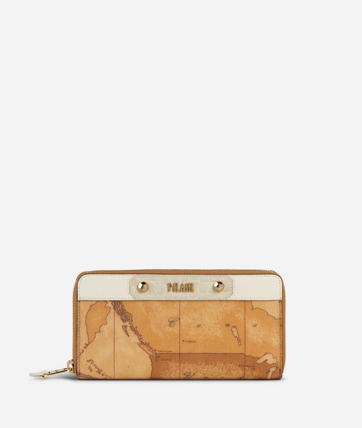 Charme Geo Zip-around Wallet White