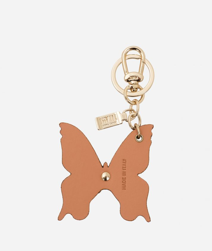 Butterfly shape Keyring Orange