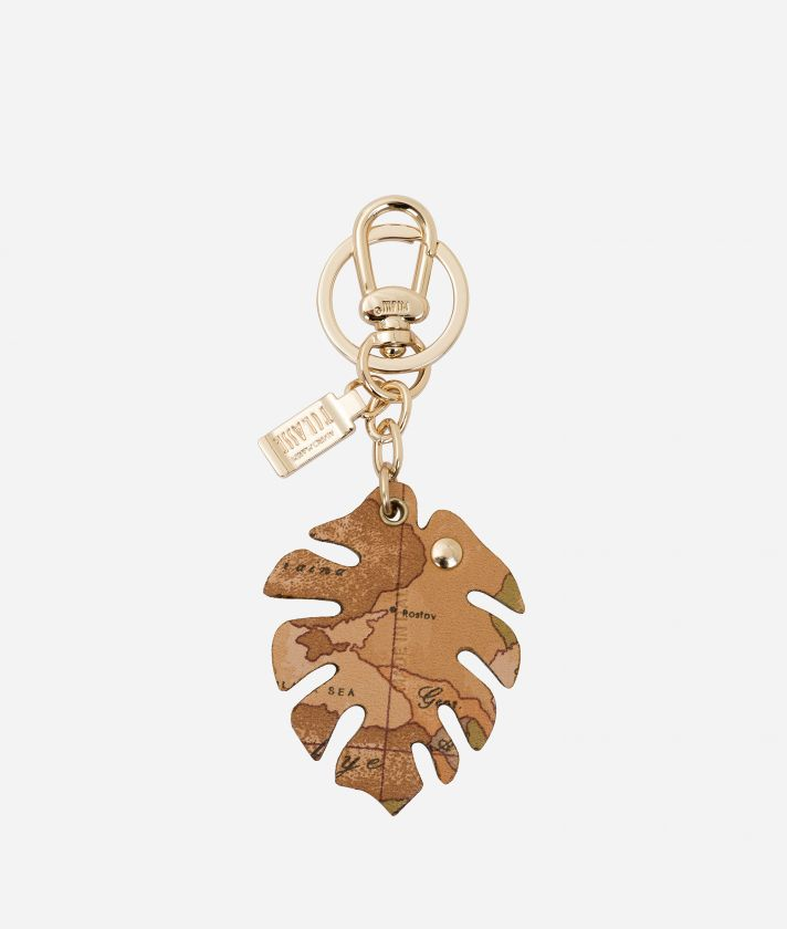 Leaf shape Keyring Yellow