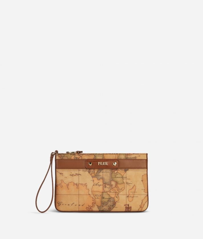Charme Geo Clutch Brown