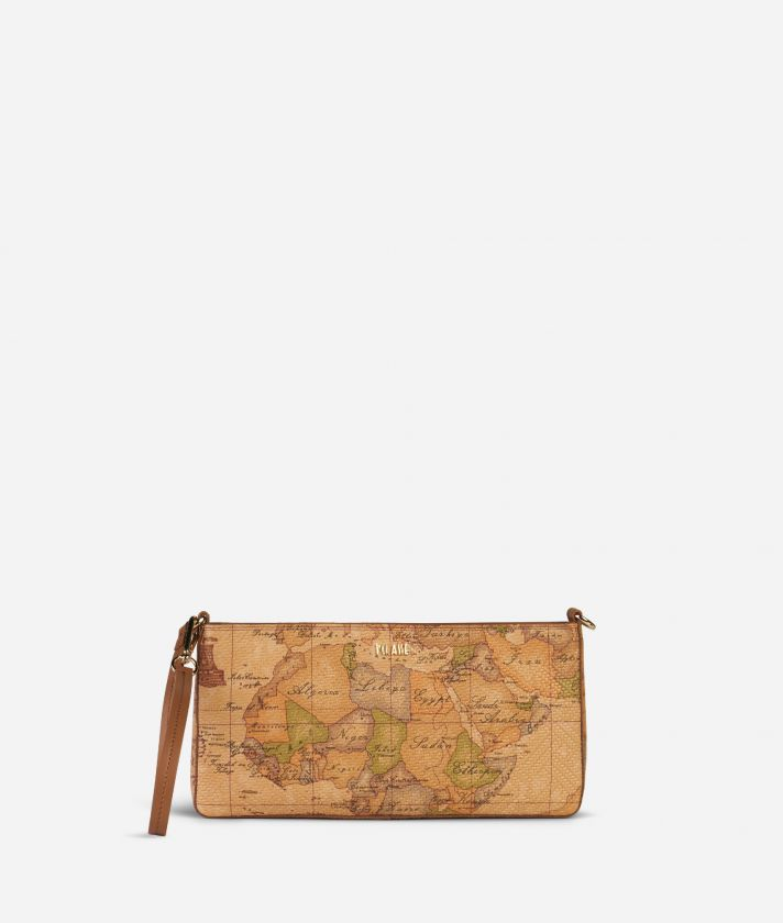 Marrakech Pochette in Geo Classic print nappa leather