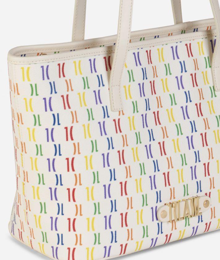 Monogram Rainbow Borsa shopping media Multicolor