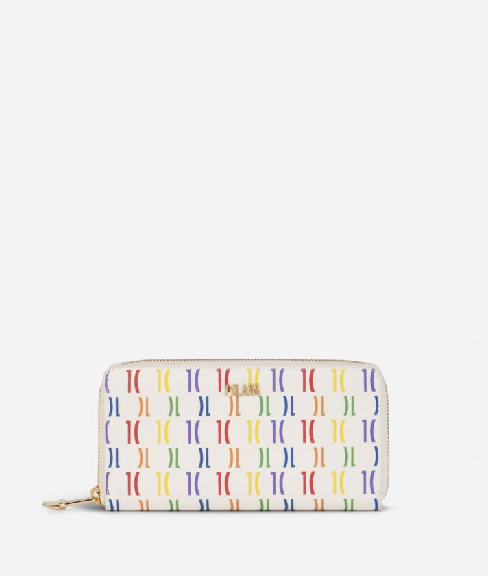 Monogram Rainbow Portafoglio ziparound Multicolor