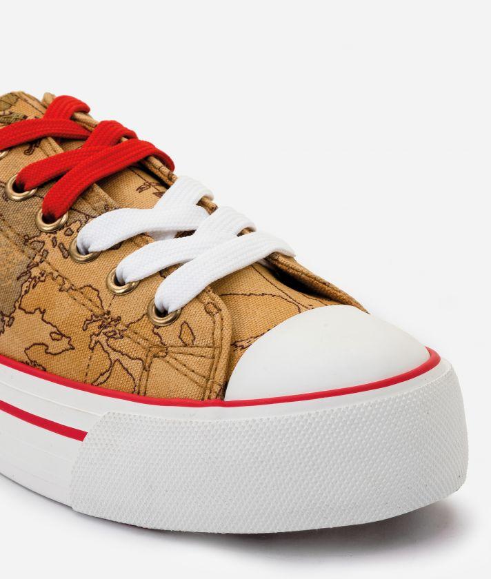 Sneaker in Geo Classic print fabric