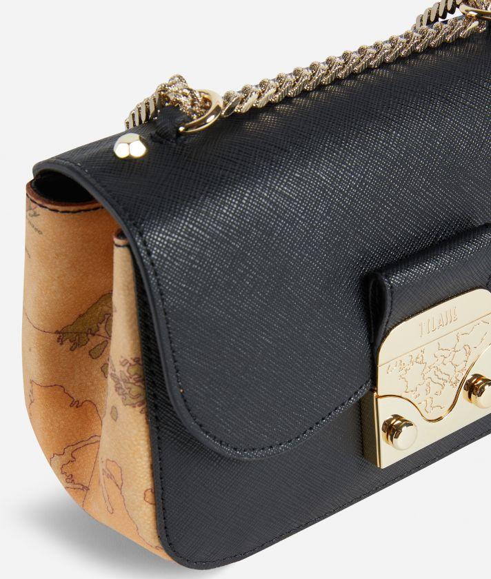 Joy Bag Tracollina in tessuto saffiano Nera