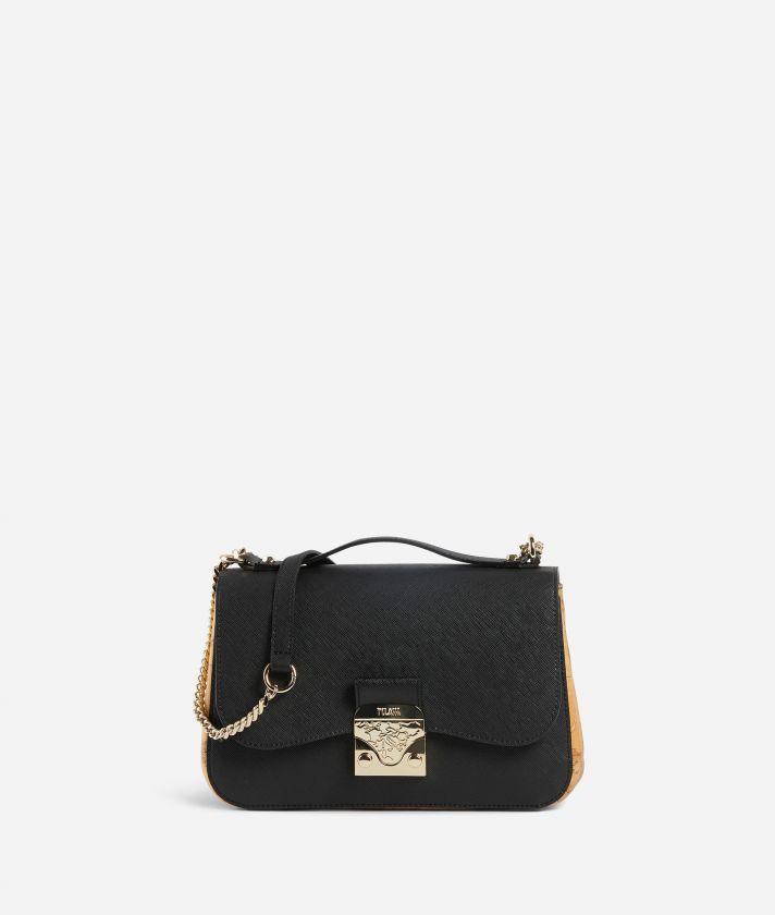 Joy Bag Tracolla in tessuto saffiano Nera