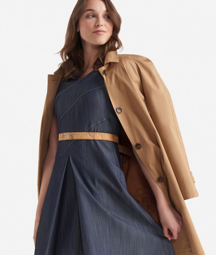 Chambray dress Dark Blue