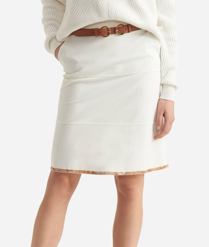 Pencil skirt in jersey fabric White