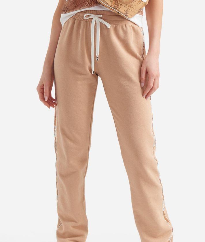 Donnavventura basic pants in fleece Beige