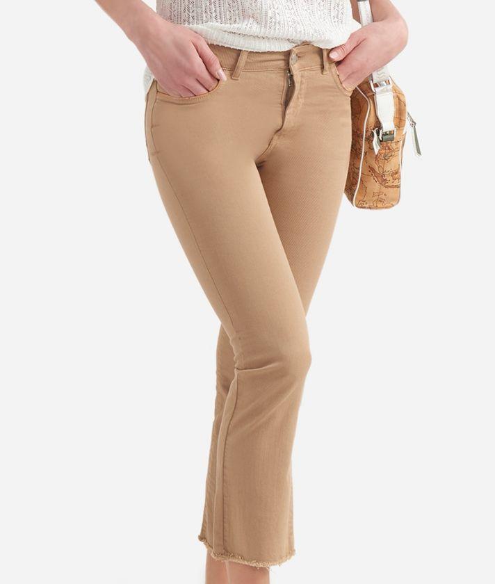 Donnavventura 5-pockets pants in drill stretch Beige