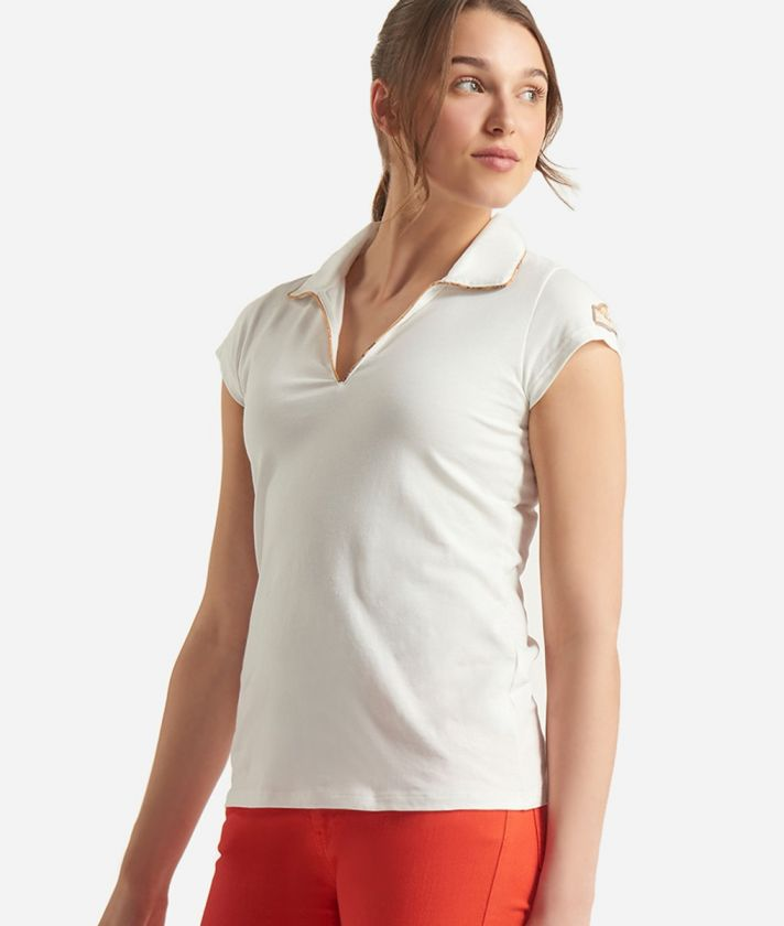Donnavventura Basic polo in jersey cotton White