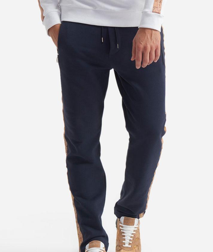 Pantalone in cotone con coulisse Blu