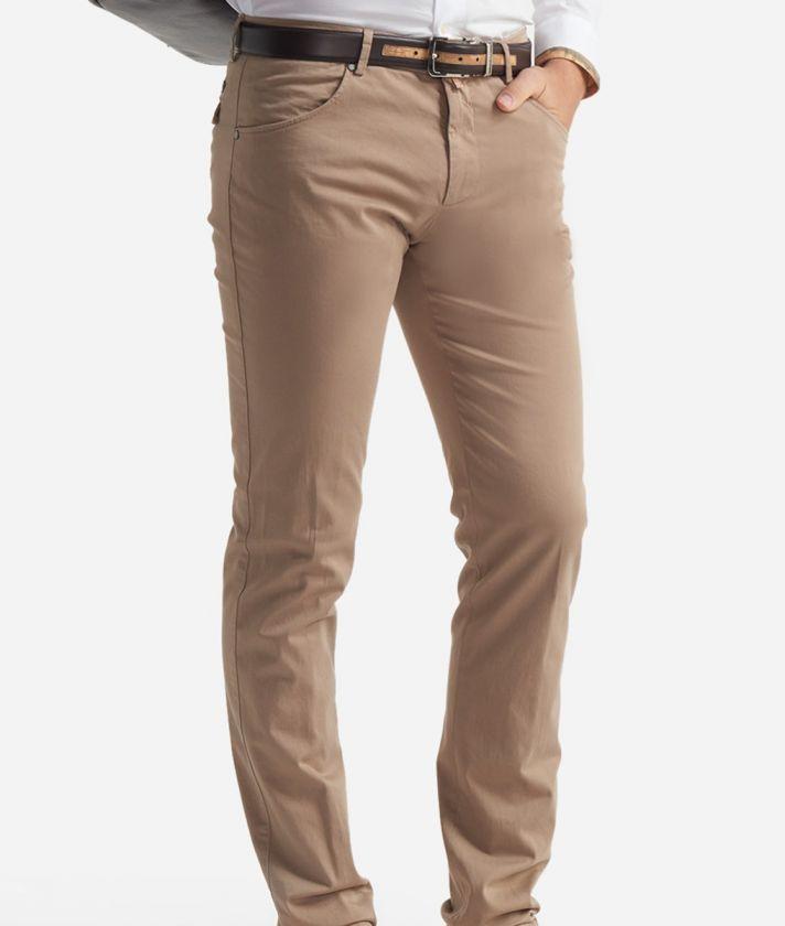 Pantalone 5-tasche slim fit Beige