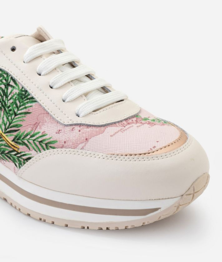 New Geo Crossing Sneaker in Geo Oasis print fabric and leather