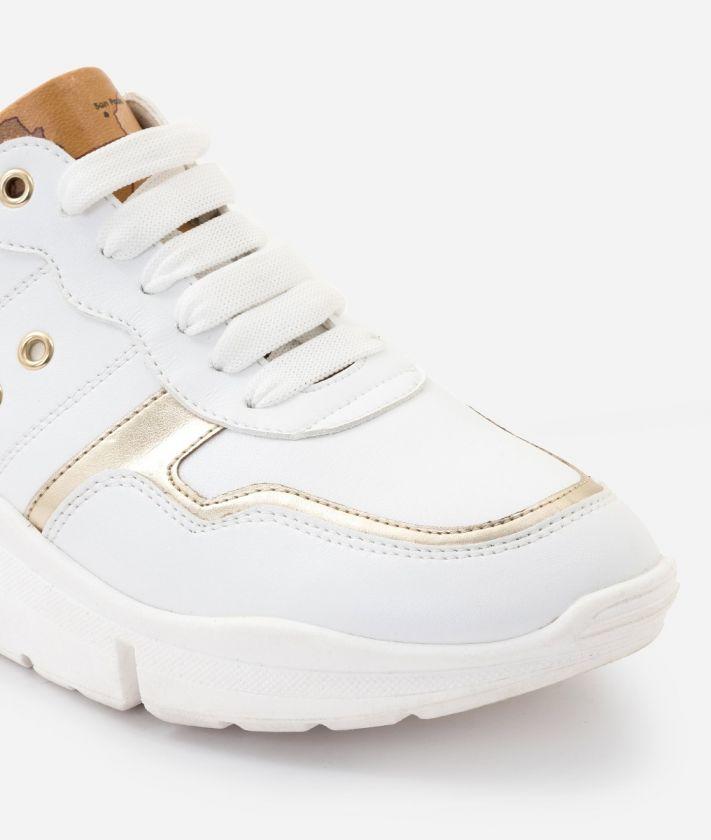 Sneaker in ecopelle Bianche