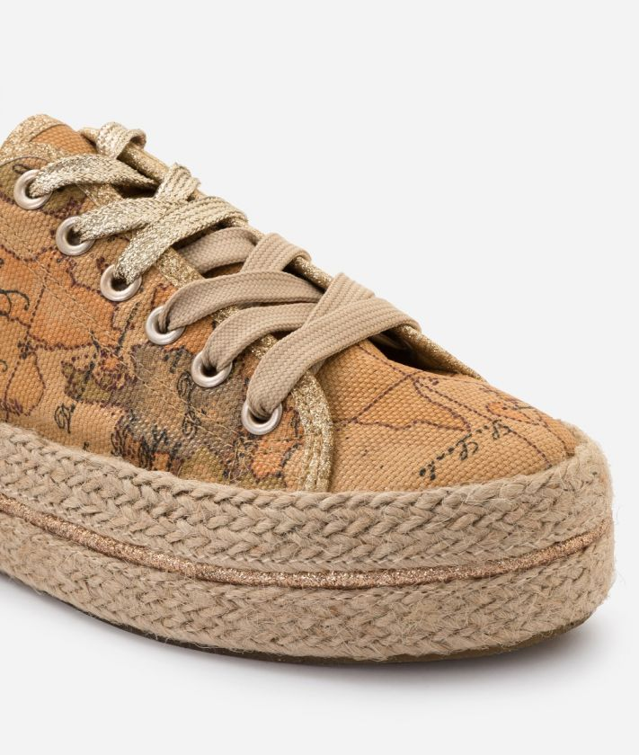 Sneaker in Geo Classic print canvas
